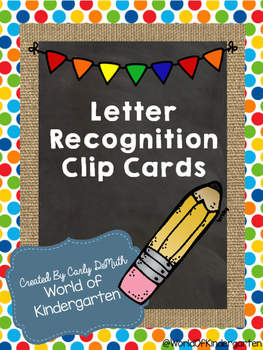 Letter Recognition Clip Cards