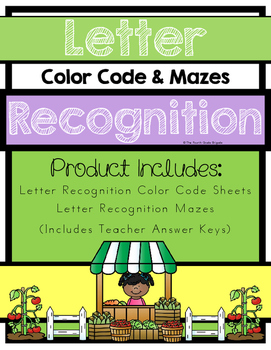 Letter Recognition - Color Code and Mazes