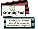 Letter Recognition (Color and Find)