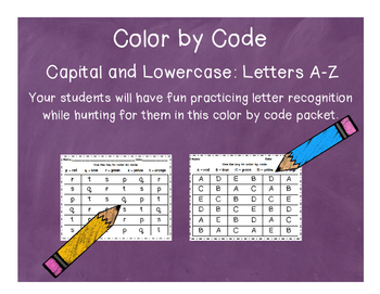 Letter Recognition - Color by Code