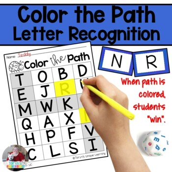Letter Recognition Color the Path