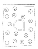 Letter Recognition Dot Pages