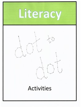 Letter Recognition Dot to Dot Activities