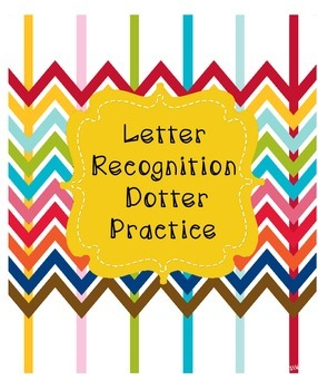 Letter Recognition Dotter Pages