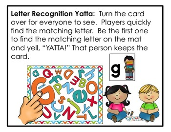 Letter Recognition Fluency YATTA Game - Available in Color and Black/White