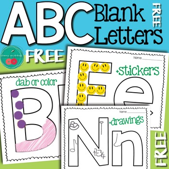 Letter Recognition Free Blank Letters