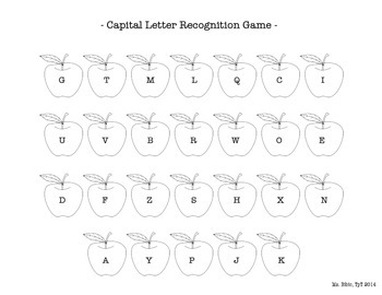 Letter Recognition Game - Apple Themed