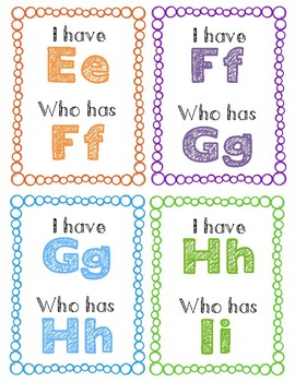 Letter Recognition Game- I Have Who Has?