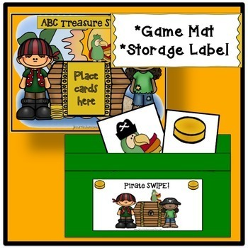 Letter Recognition & Sight Word Game SWIPE - Pirate Theme {EDITABLE}