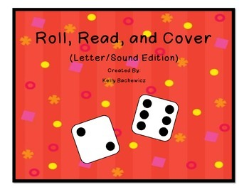 Letter Recognition Game (Roll, Read, & Cover)