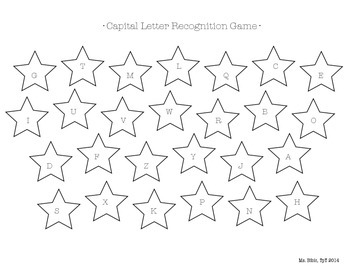 Letter Recognition Game - Star Themed