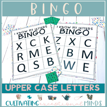 Letter Recognition Game- UPPERCASE LETTERS BINGO
