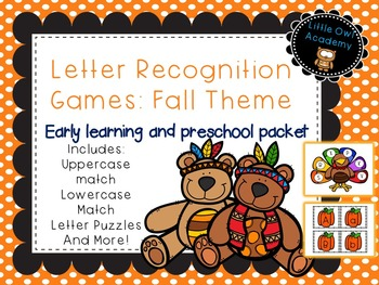 Letter Recognition Games: Fall