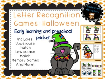 Letter Recognition Games: Halloween Theme