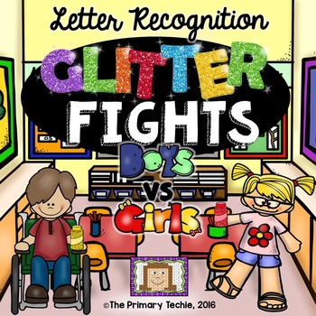 Letter Recognition Glitter Bombs - Fun Fight