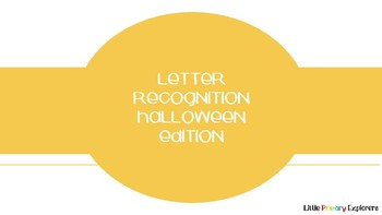 Letter Recognition Halloween Edition