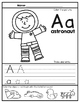Letter Recognition & Handwriting: Print & Go! Worksheets