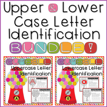 Letter Recognition Worksheets for Kindergarten Upper & Lowercase BUNDLE