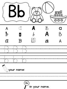 Letter Recognition Handwriting Worksheets