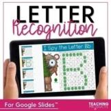 Letter Recognition I Spy Letters for use with Google Slides™