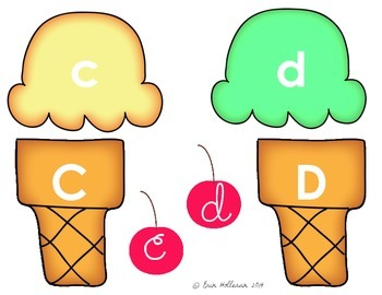 Letter Recognition Ice Cream Cones