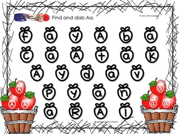 Letter Recognition & Identification Activity Pack Using Bingo Dabbers