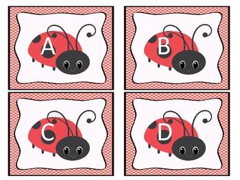 Letter Recognition- Ladybug Letters