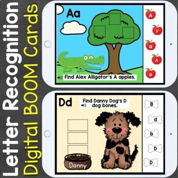 Letter Recognition Letter Review Digital Boom Cards