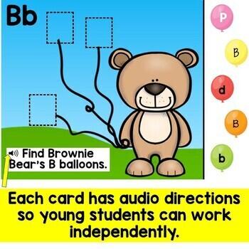 Letter Recognition Letter Review Alphabet Digital Boom Cards