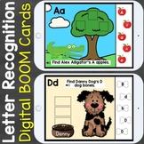 Alphabet Letter Recognition Letter Review Digital Boom Cards Distance Learning