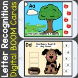 Letter Recognition Letter Review Digital Boom Cards
