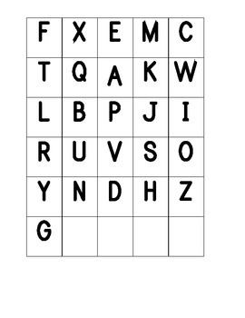 Letter Recognition / Letter Sound Identification Tool