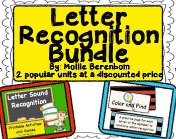 Letter Recognition Letters and Sounds Bundle