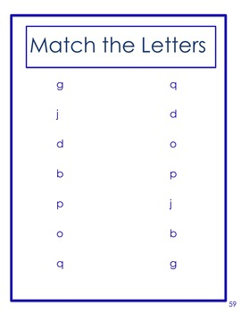 Letter Recognition  Lower Case Alphabet Match