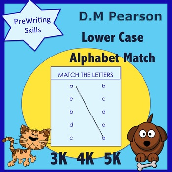 Letter Recognition  Lower Case Alphabet Match