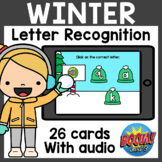 Letter Recognition (Lowercase) Boom Cards | Winter Boom Ca