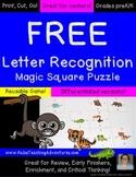 FREE Letter Recognition Game, Activity, or Worksheet Alternative