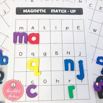 Letter Recognition : Magnetic Letter Match-up