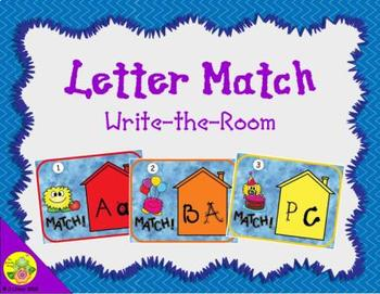 Letter Recognition Match: Write the Room