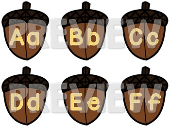 Upper & Lower Case Letter Recognition / Identification ELA Center Activity FALL