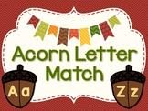 Upper & Lower Case Letter Recognition Fall Activity for Kindergarten