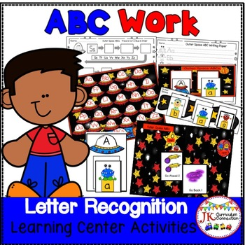 Letter Recognition! Outer Space ABCs Literacy Center Activities