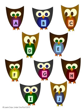 Letter Recognition Owls