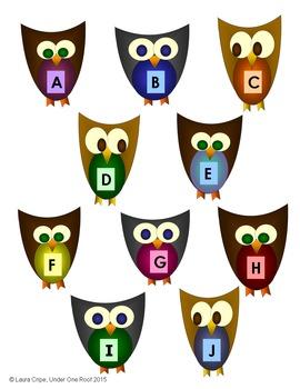 Letter Recognition Owls