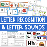 Letter Recognition Letter Sounds Activities and Centers BUNDLE