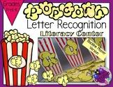 Letter Recognition - Popcorn Sorting Literacy Center BLACKLINE MASTER