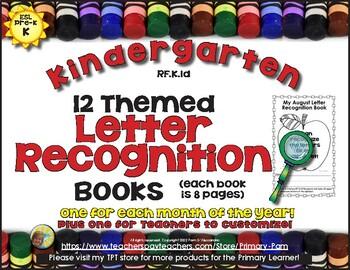 Letter Recognition Practice Books - RF.K.1d - 13 Books for Kinders and ESL