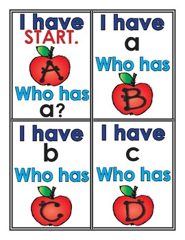Letter Recognition Practice - I Have Who Has Alphabet Game