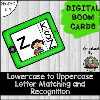 Letter Recognition Practice: Lowercase to Uppercase Matching BOOM Cards