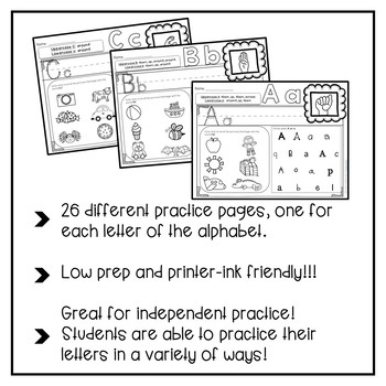 Letter Recognition Practice Pages